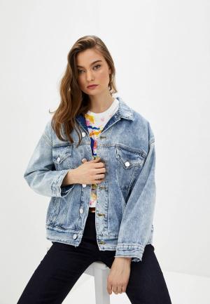 Куртка джинсовая Pinko. Цвет: голубой