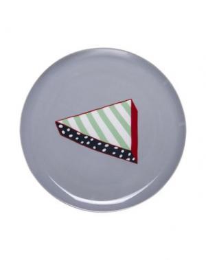 Блюдо BITOSSI HOME. Цвет: серый