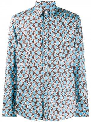 Платье-рубашка Daniele Alessandrini. Цвет: синий