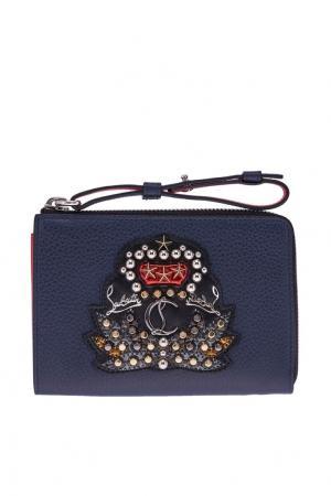 Кожаный кошелек M Tinos Christian Louboutin. Цвет: синий