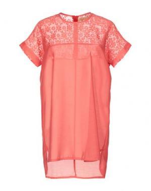 Короткое платье BONSUI. Цвет: коралловый