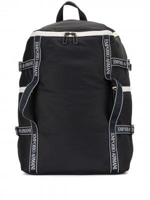 Спортивная сумка-рюкзак Emporio Armani. Цвет: синий