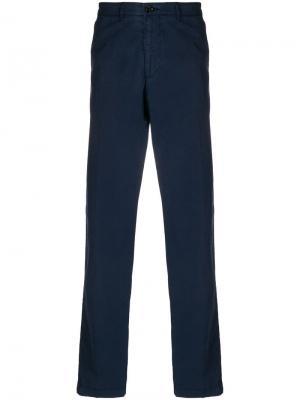 Классические приталенные брюки Boss Hugo. Цвет: синий
