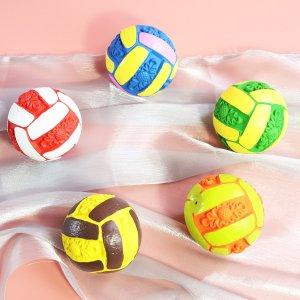 1шт звуковая игрушка для домашних животных в форме волейбола случайного цвета SHEIN. Цвет: многоцветный