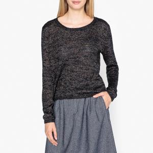 Пуловер с вырезом-лодочкой из тонкого трикотажа GRIFFIN HARRIS WILSON. Цвет: темно-синий