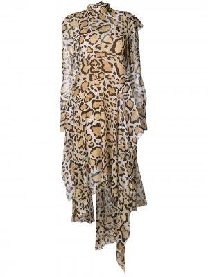 Длинное платье с драпировкой Petar Petrov. Цвет: нейтральные цвета