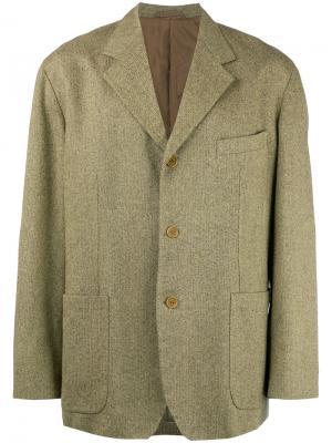 Пиджак свободного кроя Romeo Gigli Vintage. Цвет: коричневый