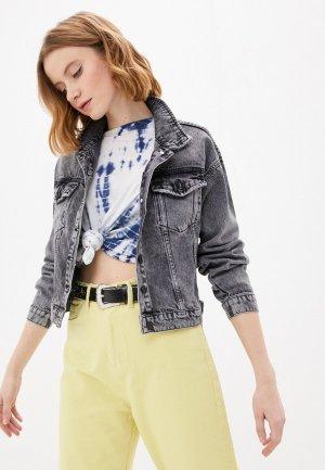Куртка джинсовая Cracpot. Цвет: серый