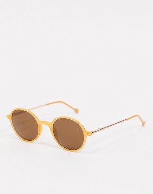 Оранжевые круглые солнцезащитные очки -Оранжевый цвет AJ Morgan