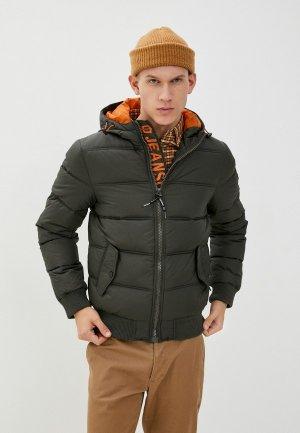 Куртка утепленная Indicode Jeans Gary. Цвет: хаки