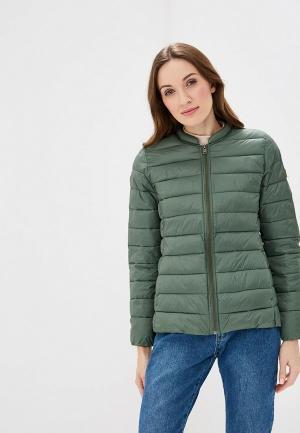 Куртка утепленная Roxy. Цвет: зеленый