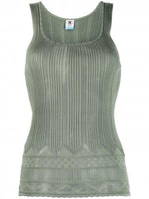 Ribbed-knit vest top M Missoni. Цвет: зеленый