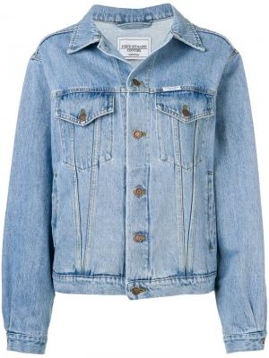 Джинсовая куртка-рубашка Forte Dei Marmi Couture. Цвет: синий