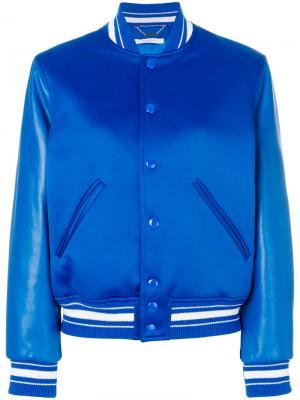Oversized bomber jacket Givenchy. Цвет: синий