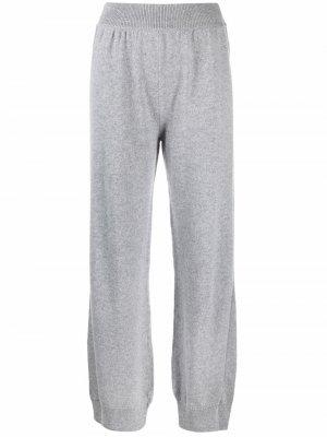 Зауженные кашемировые брюки Barrie. Цвет: серый