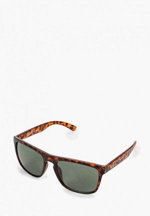 Очки солнцезащитные Jack & Jones. Цвет: коричневый