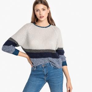 Пуловер из плотного трикотажа PIA SUNCOO. Цвет: синий