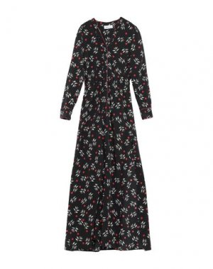 Длинное платье BSB. Цвет: черный