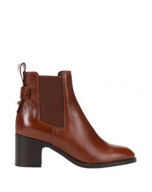 Полусапоги и высокие ботинки SEE BY CHLOÉ. Цвет: коричневый