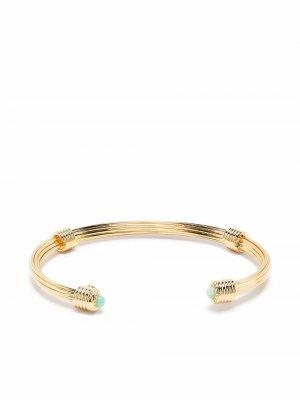 Позолоченный браслет-кафф Ariane Gas Bijoux. Цвет: золотистый