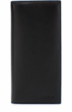 Кожаный бумажник с отделениями для кредитных карт и монет Furla. Цвет: черный