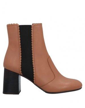 Полусапоги и высокие ботинки SEE BY CHLOÉ. Цвет: светло-коричневый