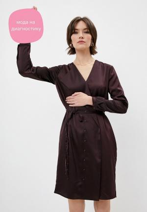 Платье French Connection. Цвет: коричневый