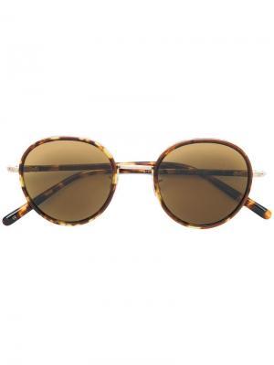 Солнцезащитные очки в округлой оправе с черепаховым эффектом Eyevan7285. Цвет: коричневый
