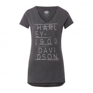 Хлопковая футболка Black Label Harley-Davidson. Цвет: серый