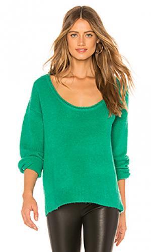 Пуловер sotto Lovers + Friends. Цвет: зеленый