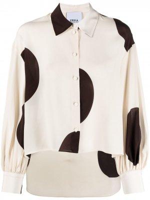 Рубашка в горох Erika Cavallini. Цвет: нейтральные цвета