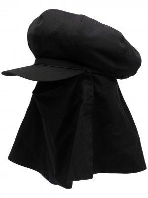 Фуражка со съемной балаклавой Yohji Yamamoto. Цвет: черный