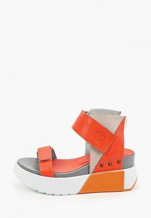 Босоножки Airbox. Цвет: оранжевый