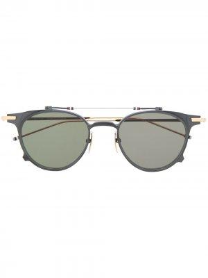 Солнцезащитные очки в оправе Clubmaster Thom Browne Eyewear. Цвет: черный