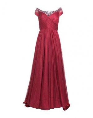 Длинное платье JENNY PACKHAM. Цвет: красно-коричневый