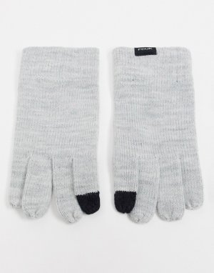 Черные перчатки от комплекта для сенсорных экранов с логотипом FCUK -Серый French Connection