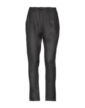 Повседневные брюки DENHAM. Цвет: стальной серый