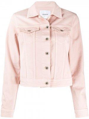 Джинсовая куртка узкого кроя Dondup. Цвет: розовый