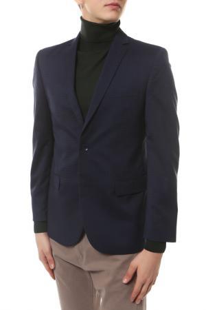 Пиджак mishelin. Цвет: синий, клетка, пиджак