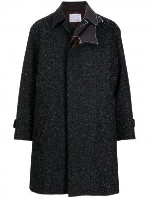 Однобортное многослойное пальто Kolor. Цвет: синий