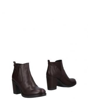 Полусапоги и высокие ботинки SANDRO FERRONE. Цвет: темно-коричневый