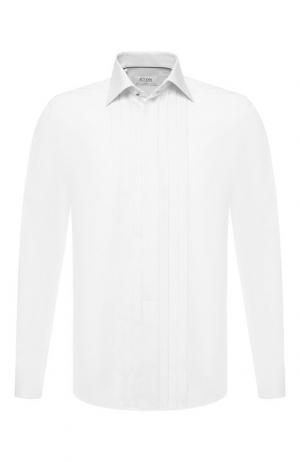 Хлопковая сорочка под смокинг Eton. Цвет: белый