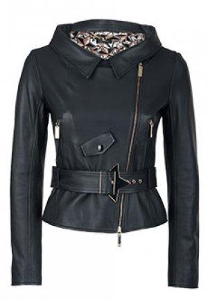 Куртка ELISABETTA FRANCHI. Цвет: черный