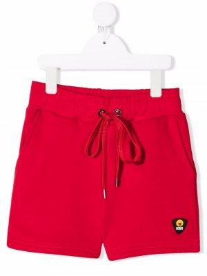 Шорты с нашивкой-логотипом Ciesse Piumini Junior. Цвет: красный