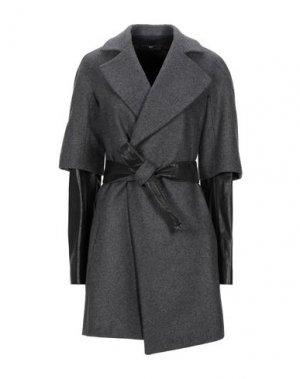 Пальто DANIELE ALESSANDRINI. Цвет: серый