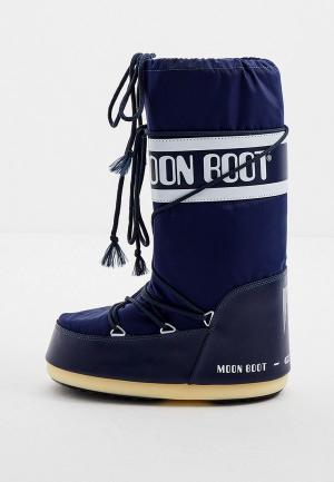 Луноходы Moon Boot. Цвет: синий
