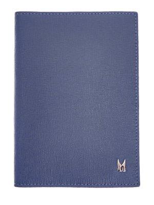 Обложка для паспорта из фактурной сафьяновой кожи MORESCHI. Цвет: синий