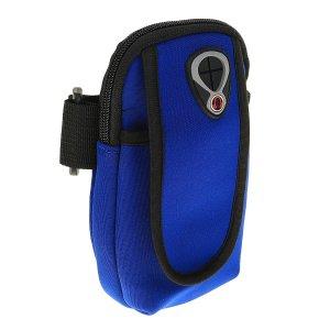 Чехол для сотового телефона на руку luazon, выход наушников, 2 отсека, синий Luazon Home