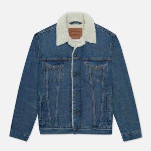 Мужская джинсовая куртка Levis Sherpa Trucker Levi's. Цвет: синий