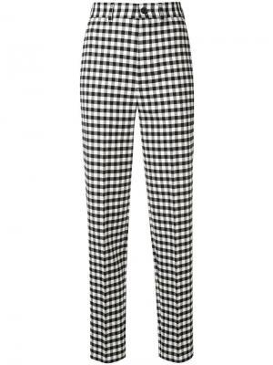 Классические брюки в клетку гингем Balenciaga. Цвет: черный